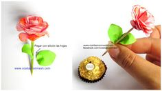 Rositas de cartulina con chocolates para el día de la madre ~ cositasconmesh Chocolates, Stud Earrings, Scrapbook, Craft Kids, Card Stock, Valentines, One Day, Jelly Beans, Paper Envelopes