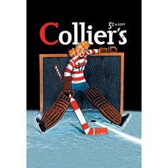 Buyenlarge Young Girl Goalie by Colliers Vintage Advertisement Size: Hockey Shop, Hockey Goalie, Ice Hockey, Blackhawks Hockey, Chicago Blackhawks, Hockey Players, Vintage Prints, Vintage Art, Hockey Girls