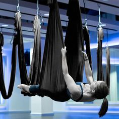 Large Bearing Inversion Therapy Anti-Gravity Yoga Swing Aerial Swing Hammock New…
