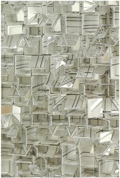 KATSUMI HAYAKAWA, REFRACTION DETAIL: the whole piece looks completely and utterly stunning: tiny fragments of mirrored glass on paper.
