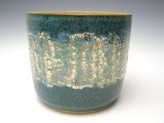 succulent planter cactus planter bonsai ceramic pottery plant pot herb planter turquoise 6 1/2  x 5 1/4  Erp -20