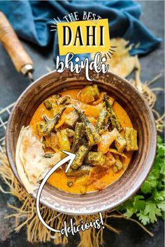 Jain Recipes, Ethnic Recipes, Okra Curry, Green Chutney, Indian Curry, Fresh Coriander, Vegetarian Dinners, My Best Recipe, Garam Masala