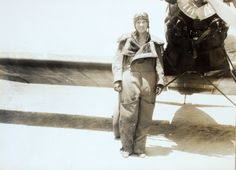 Anne Morrow Lindberg | Cosy flying suit and sensible shoes. #aviatrix