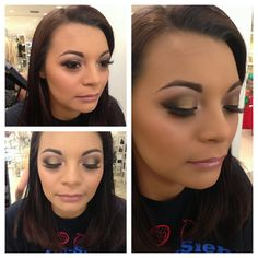 This gorgeous girl is wearing all MAC products. Perfect for her long classy dress for prom! A smokey eye is a great way to complement her hazel eyes. Please like and ask for feedback!