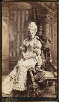 Mrs. Elliot F. Shepard (neé Margaret Louisa Vanderbilt) costumed for the W. K. Vanderbilt Ball, 26 March 1883.