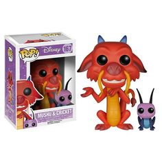 Mulan Mushu and Cricket Pop! Vinyl Figure - Funko - Mulan - Pop! Vinyl Figures at Entertainment Earth