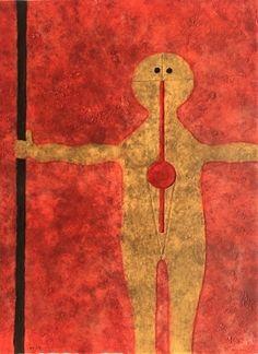 Rufino Tamayo, hombre con baston -1979 on ArtStack #rufino-tamayo #art