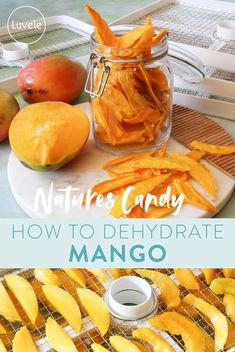 How to dry mango in a food dehydrator Dried Mangoes, Dried Fruit, Gaps Diet, Most Satisfying, Dehydrator Recipes, A Food, Snacks, Healthy, Appetizers
