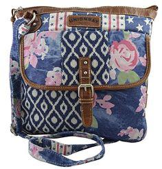 Unionbay Women's girl's Canvas Cross Body Bag Aztec Floral Print Messenger Handbag UNIONBAY http://www.amazon.com/dp/B00Q9HAR5Q/ref=cm_sw_r_pi_dp_q8lQub15R90Y0