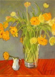 elizabeth blackadder | Elizabeth Blackadder, Tulips, Greetings Card