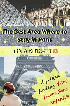 Do you know which one is the best area where to stay in Paris on A budget and still travel in style? You'll be surprised! The Eiffel Tower and Louvre are nearby. Here's our finding of an affordable boutique Paris hotel for your next trip. #Paris #Boutiquehotel #budget #france