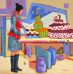 Born to Bake - painting by Carolee Clark