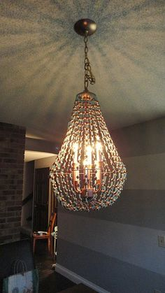 Tute for dressing up an ugly chandelier....use for over kitchen table or in sewing room??