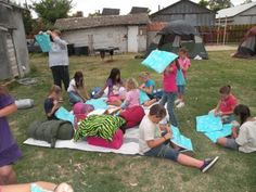 Back Yard Camp out for Badge Girl Scout Troop #2447: Juniors