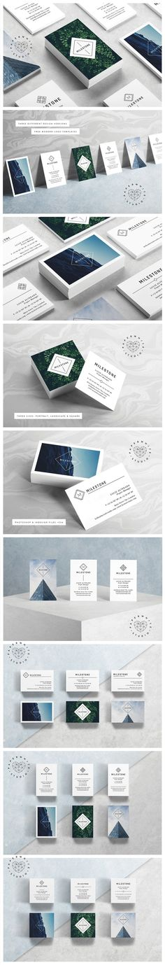 MILESTONE Business Cards by Paperwhite Studio