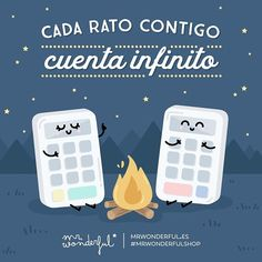 Y aquí seguimos multiplicando momentos juntos. Every moment I spend with you is worth infinity. And we keep multiplying good times together. Cute Quotes, Funny Quotes, Funny Memes, Romantic Humor, Cute Love, My Love, Tumblr Love, Emoticon, Happy Day