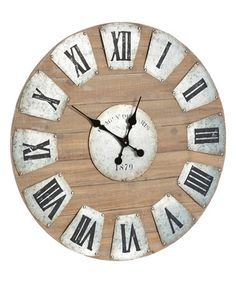 Look what I found on #zulily! Wood & Metal Wall Clock #zulilyfinds