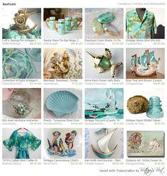 Vintage ocean themed items