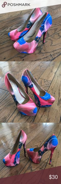 Platform High Heels 👠 by ALBA NWOT Platform High Heels 👠 by ALBA Size 6. Multiple colors: Blues, Pinks, & Cream. Never Worn. OBO Alba Shoes Platforms