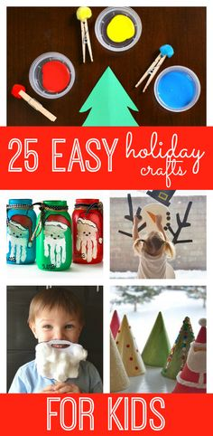 25 Fun and Easy Holiday Crafts for Kids - My Life and Kids Easy Christmas crafts for kids! Looking for a fun and unique way to countdown to the Christmas? Why not try a crafty holiday countdown with these 25 easy holiday crafts for kids! Holiday Crafts For Kids, Christmas Crafts For Kids, Christmas Activities, Xmas Crafts, Christmas Themes, Holiday Fun, Fun Crafts, Christmas Holidays, Activities For Kids