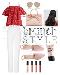 """""""Mother's day Brunch Date with mom"""" by fluffyflavi on Polyvore featuring Anna October, ESCADA, Mansur Gavriel, Summit, Christian Dior, ALDO, NYX and Bare Escentuals"""