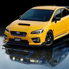 Hi. What's your name?  Would you travel to #japan just to see the #s207?  Gorgeous.   #sti #igotansti #wrx #yellow #pretty #racecar @subaru_usa