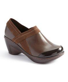 Look at this #zulilyfind! Brown Cali-Too Leather Clog by Jambu #zulilyfinds