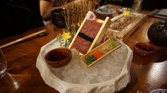 Sakagura - London HIgh End Japanese served in a dimly lit restaurant with great plating! We review the place