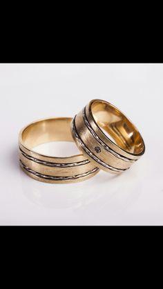 Aliança em ouro amarelo, ouro branco e diamante