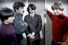 The Monkees. This photo is delightfully awkward. Pop Rock Bands, Cool Bands, My Only Love, First Love, Local Concerts, Michael Nesmith, Peter Tork, British American, Davy Jones