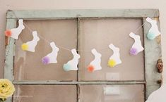 Pom Pom Bunny Tail Bunting ---  SO CUTE FOR EASTER!