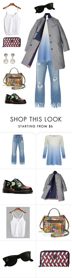 """""""ombre splatter"""" by ludopolier ❤ liked on Polyvore featuring 3x1, Joie, Dr. Martens, Hilfiger, Milly, Ray-Ban, Tommy Hilfiger and Givenchy"""