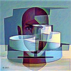 Cubismo estética moderna # 2017- original ....