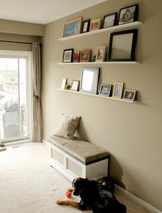 floating photo shelves