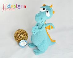 PATTERN Blummy The Fireman Dragon Amigurumi by HavvaDesigns