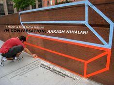 aakash nihalani Design Tape, Geometric Cat, Tape Art, Anamorphic, 3d Drawings, Creative Artwork, Mural Art, Cat Design, Masking