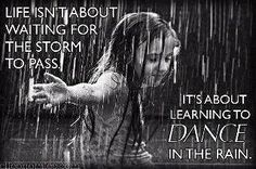 Dance and enjoy! Rain = Puddles = Another great reason to make a splash ;)