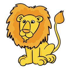 cartoon male lion clip art