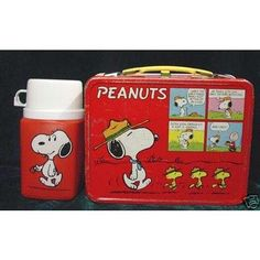 My Snoopy Lunch box - I had this one too! Why don't they make thermos like this anymore???