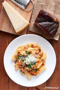 Pasta con porcini e speck - Porcini Mushrooms and Speck South Tyrolean Pasta.