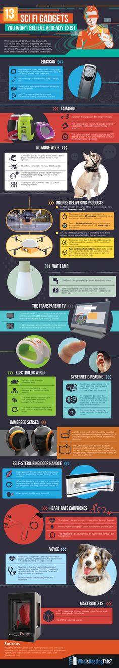 13 gadgets que crees que no existen #infografia #infographic #tech