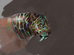Opal Smilodon by Maquenda