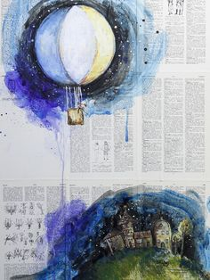"Saatchi Online Artist: Sara Riches; Paint, 2013, Mixed Media ""Dreamer"""