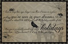 Free Printable Quote - Halloween Fun! Nightmare Before Christmas opening quote... (Made by Maren)