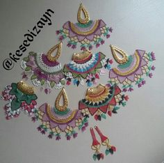 This post was discovered by TC Crochet Art, Crochet Motif, Crochet Patterns, Indian Embroidery Designs, Lace Jewelry, Jewellery, Point Lace, Scarf Design, Beads And Wire