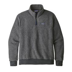 We make the easy-to-wear Patagonia Men's Woolyester Fleece Pullover with a breakthrough fleece fabric that blends recycled wool with polyester and nylon. Wool Fabric, Fleece Fabric, Fleece Patterns, Patagonia Sweater, Half Zip Pullover, Mens Fleece, Recycled Fabric, Cool Sweaters, Outdoor Outfit