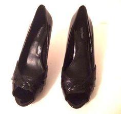WHBM White House Black Market Peep Toe heels size 6.5 M   #WhiteHouseBlackMarket #PeepToe #SpecialOccasion