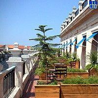 Terrace At The Hotel Santa Isabel Havana Cuba