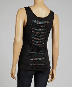 Look what I found on #zulily! Black Southwestern Diamond Graphic Tank #zulilyfinds