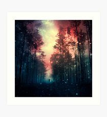 'Magical Forest II' Art Print by baxiaart Artwork Online, Online Art, Kunst Online, Magical Forest, Home Art, Design Inspiration, Tapestry, Art Prints, Poster